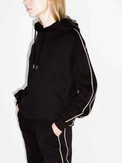 striped organic cotton hoodie