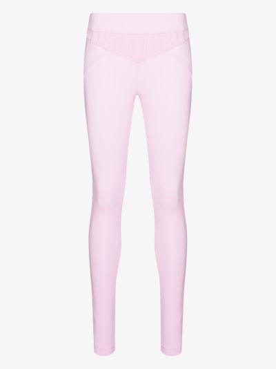 pleated waist leggings