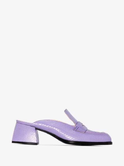 purple bulla cara 45 patent leather mules