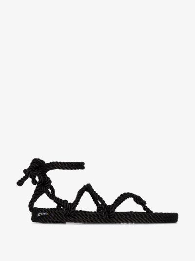 Black Romano rope sandals
