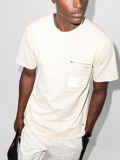 ID pocket cotton T-shirt
