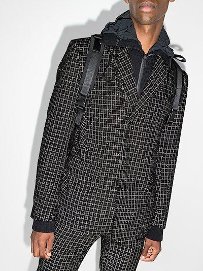 Reflector checked tweed blazer