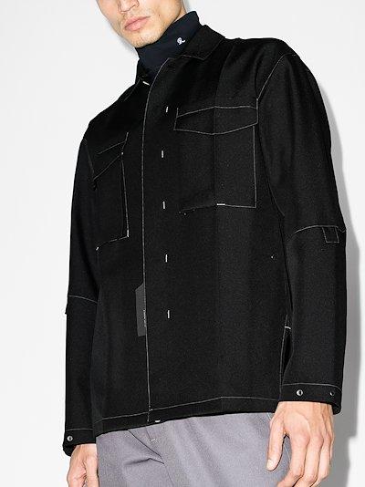 toptstitched shirt jacket