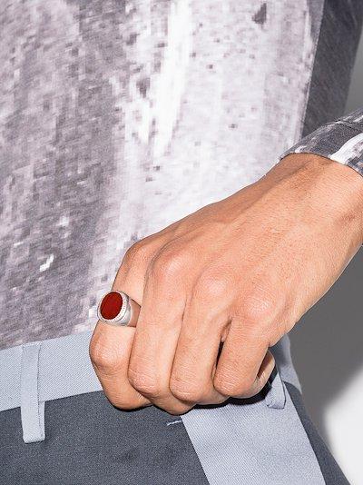 sterling silver jasper signet ring