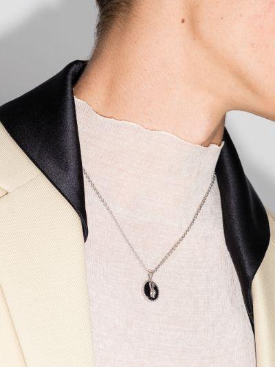 sterling silver Virgo pendant necklace