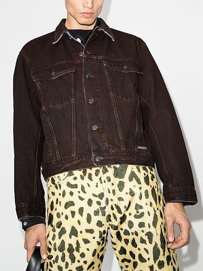 arrow print denim jacket