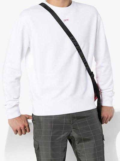 arrow stencil cotton sweatshirt