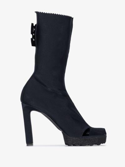 Black 115 Open Toe Sponge Boots