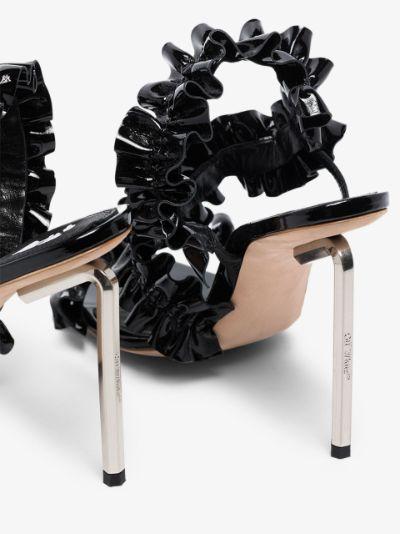 black Allen 100 patent leather sandals
