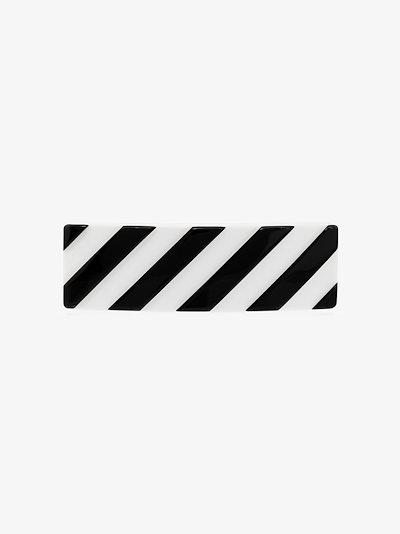 black and white striped hair clip
