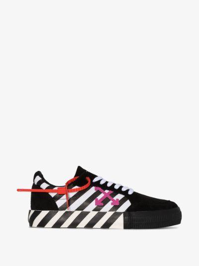 Black Arrow striped suede sneakers