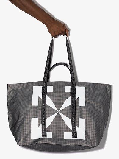 black Arrows print tote bag