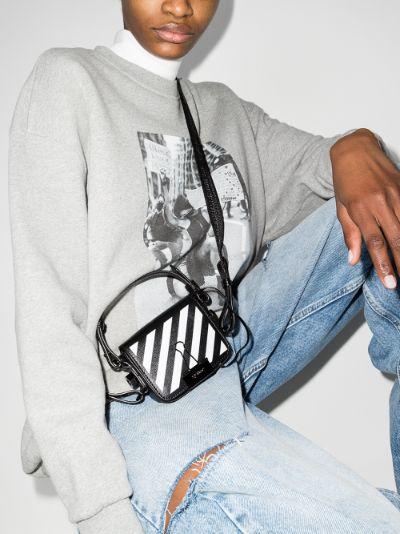 Black Diag Baby Shoulder Bag