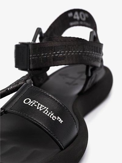 Black Trek leather hiking sandals