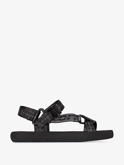 black Trek sandals