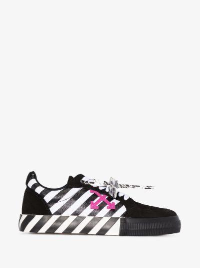 black vulcanised low top sneakers