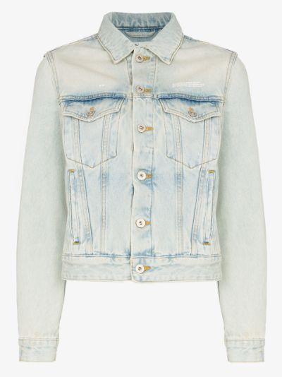 bleach dyed denim jacket