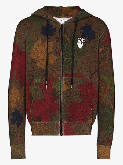 camo arrow print cotton hoodie