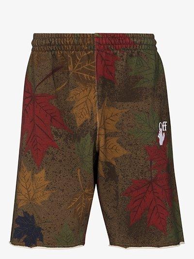 camo print arrow cotton shorts