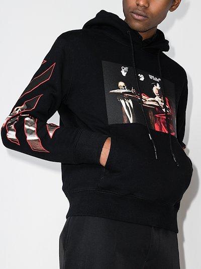 Caravaggio print hoodie