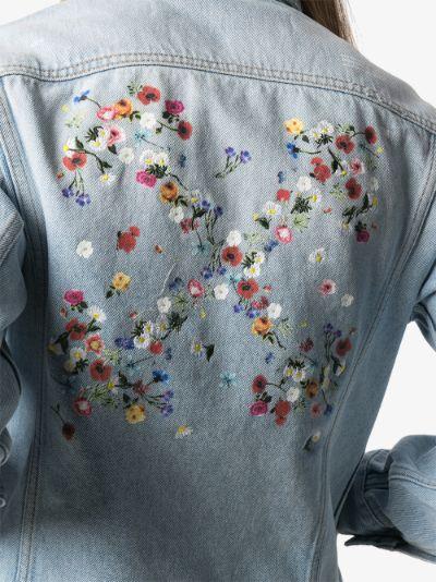 floral arrows denim jacket