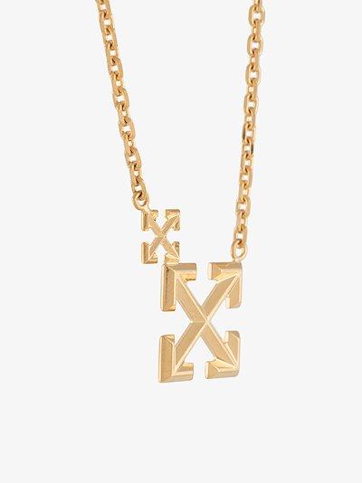 gold tone Double Arrows necklace
