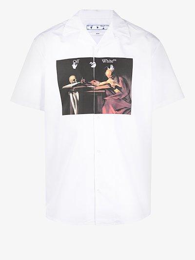 graphic print short-sleeved shirt
