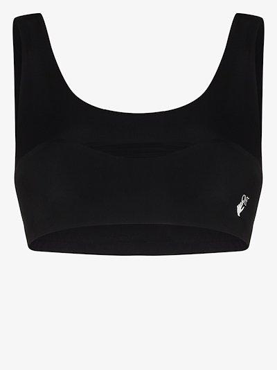 hand logo sports bra