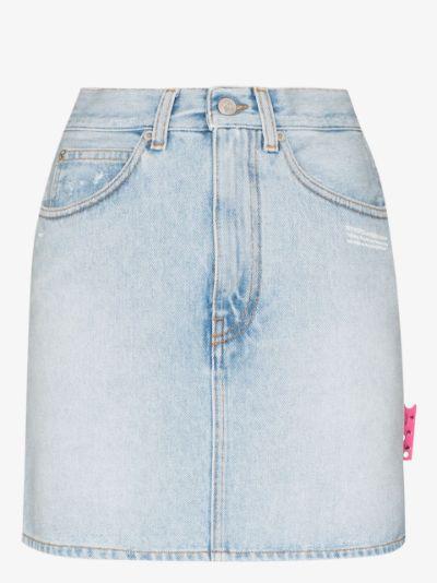 High Waist Denim Mini Skirt