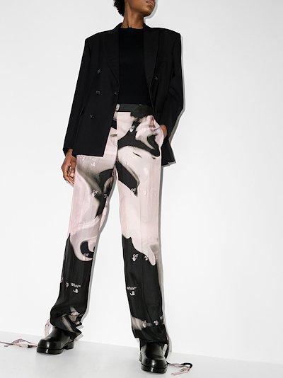 Liquid Melt tie-ankle trousers