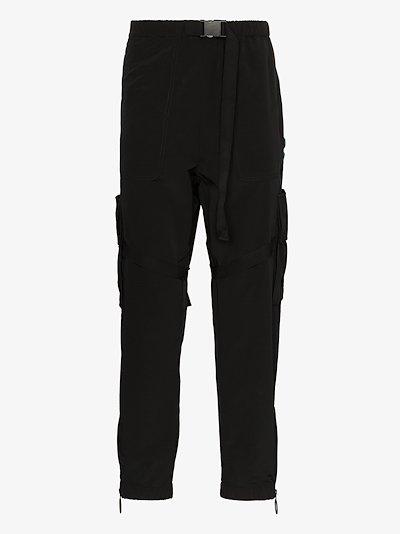 logo print cargo trousers
