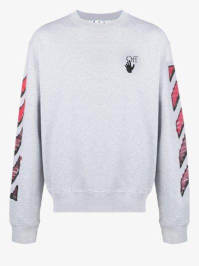 Marker crew neck sweatshirt