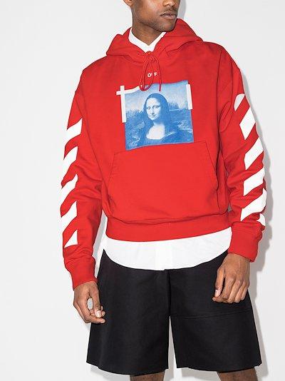 Mona Lisa print cotton hoodie