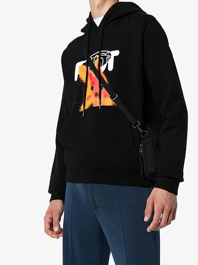 pivot fish graphic print hoodie