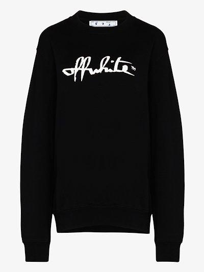 script cotton sweatshirt