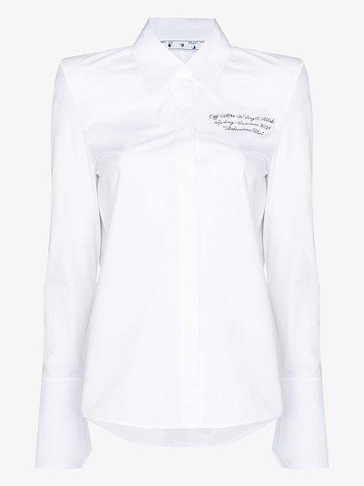 script logo cotton shirt