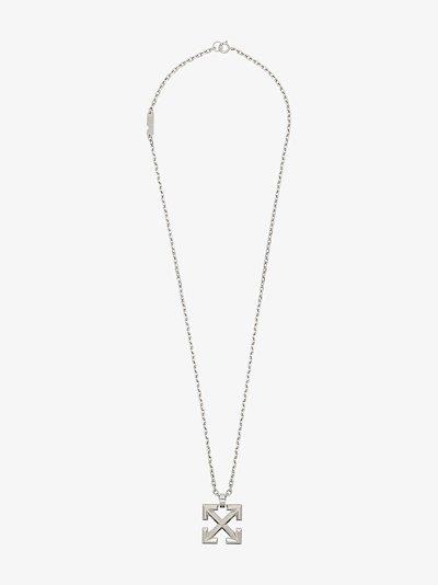 silver tone arrows necklace