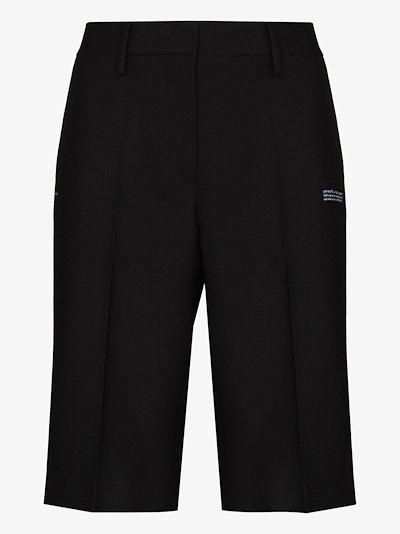 tailored logo print shorts