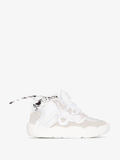 white Chlorine suede sneakers
