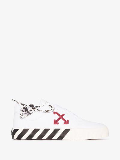 white diag vulcanised rubber sneakers