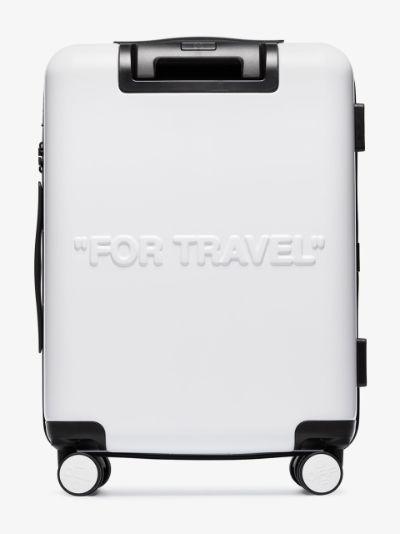 white quote cabin suitcase
