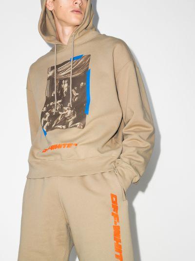 X Browns 50 Caravaggio print cotton hoodie