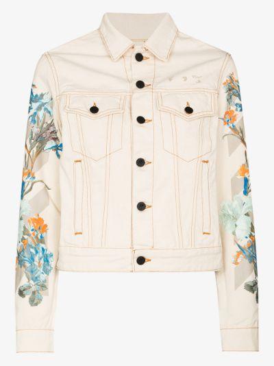 X Browns 50 floral denim jacket