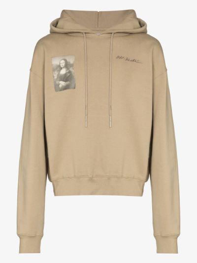 X Browns 50 Mona Lisa print cotton hoodie