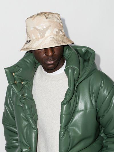 X Browns 50 neutral camouflage print bucket hat