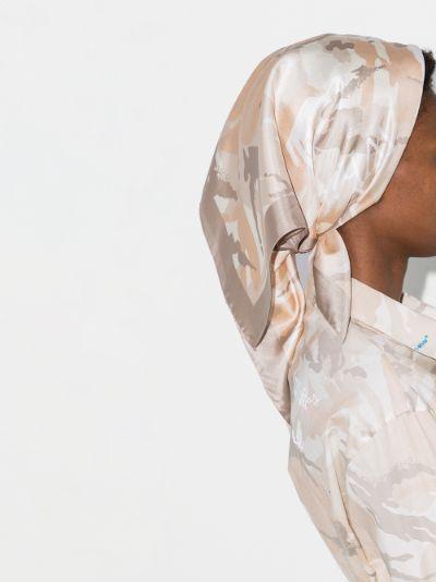 X Browns 50 neutral camouflage silk scarf