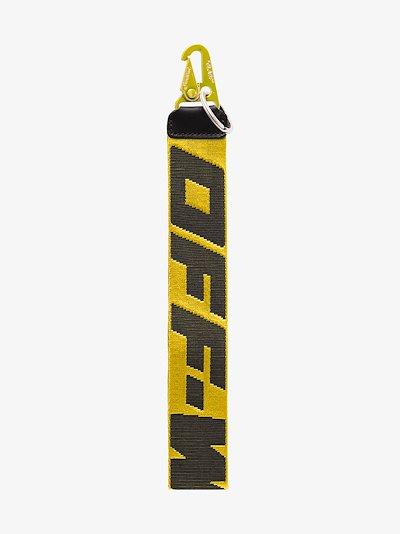 yellow industrial logo keyring