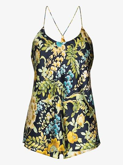 Bella Debauchery floral silk short pyjamas