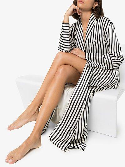 Capability Nika stripe print silk robe