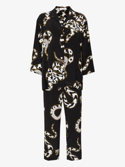 Casablanca Ciro Snake Motif Silk pyjamas